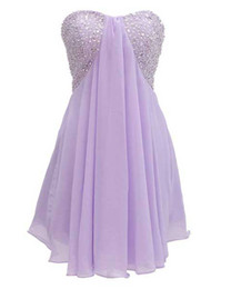 Wholesale New Short Crystal Embellished Bustier Prom Dresses for Juniors Teens Plus Size Flowy Party Graduation Homecoming Little Chiffon Gowns w
