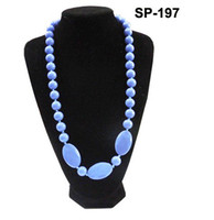 Wholesale MIX COLOR Popular Teething Necklace for Baby BPA FDA Silicone Teether Necklace Baby Chewlry Necklace Mommy Necklaces