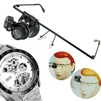 Wholesale New Glasses Type X Watch and Jewelry Repair Magnifier Jewelers loupe With LED Light Black