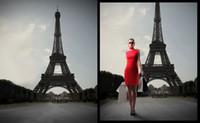 Vintage Eiffel Tower Edificio de la boda Props Fotografía de fondo para estudio de fotos Muslin Computer Impreso Digital Tela Senior Backdrops