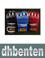Wholesale LJP045 New Grappling MMA Gloves Boxing Gloves Black White Red Blue W8861 Five Colors