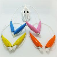 For Apple iPhone Earphones  HBS-730 Wireless Sport Neckband Headset In-ear Headphone Bluetooth Stereo Earphones Earphone Headsets For iphone5 5S S4 Note 3 Free DHL