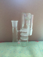 Wholesale 18 mm triple honeycomb smoking water pipe glass bong percolator ash catcher pipe joint