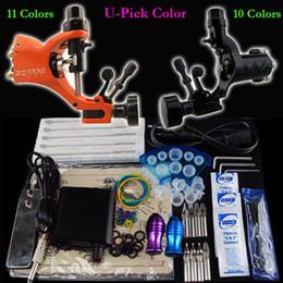 Wholesale Tattoo Kit Pro Rotary Machine Gun Power Supply Foot Pedal Needle Grip Tip