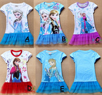 TuTu Summer Pleated Big Discount 2014 Newest Summer girls Frozen tutu dresses girls elsa anna sofia white top blue lace dress tutu dresses 6pcs lot, 2-8T Melee