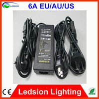 Wholesale 1pcs High quality new V A W Led Power Adapter US EU AU plug for SMDLED Light or LCD Router HUB x2 mm