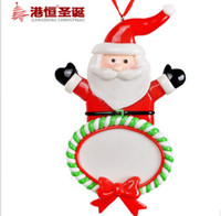 Wholesale Christmas tree ornament cm santa claus high grade polymer clay Christmas pendant pieces