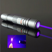 Wholesale 405nm mw Watt Waterproof focusable blue purple laser pointer burning star pointer torch