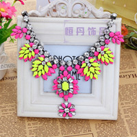 Wholesale 2014 HOT Fashion Necklace Peach pink Lemon Inlaid Jaffaite Necklace for Clavicle Position mix order more items more discount