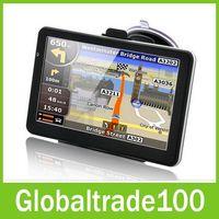 Gps Navigator av hand - 7 inch Car GPS Navigation Handheld Navigator Bluetooh Av In FM Transmitter MTK CE M GB Free NEW Map Free DHL Shipping
