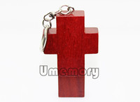Wholesale retail real capacity gb gb gb gb gb novelty wooden wood cross shape usb flash drive pen drive memory stick pendrive UW0003B