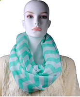 Wholesale color Striped wave pattern Voile scarf Infinity Chevron Zig Zag Block Chunk Circle Double Loop Wrap Scarf cm