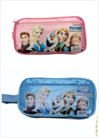 Multicolor nylon pencil bag New Arrival 2014 Frozen princess Elsa anna Pencil case Bag Red NEW Children Girl's Cartoon Fashion Pencil Bag