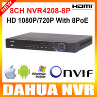 Wholesale Dahua MP p P NVR CH U PoE ports Network Video Recorder NVR4208 P channel ch alarm in and ch relay out Support hdd Onvif