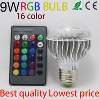 Wholesale 16 color changing Factory outlet Low price AC V RGB LED Lamp W E27 led Bulb Lamp with Remote Control led lighting CREE