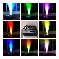 LED confetti machine fog - NEW W Digital W RGB Mixing LED Colorful UP Fog Machine For Wedding Effects Event Party Meter With DMX Channels