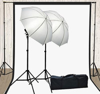 Wholesale Light Kit Lighting Kit Two Umbrella Two x Muslin Backdrop And Background Stand KL15