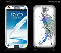 Wholesale Diamond Glitter Sticker Protector Film For Samsung Galaxy Note2 N7100 Screen Film Cute Cartoon Stickers Dustproof