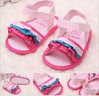 Girl Summer Cotton Discount!Pink red Baby shoes,toddler shoes,strawberry princess sandals wholesale, soft bottom infant casual shoes,baby wear!6pairs 12pcs.ZH