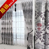 100% Polyester drapes curtains - On sale Curtain Blackout Curtains For living Room For Hotel Luxury Tulle Sheer Curtains Ready Made Window Treatment Drape Grey