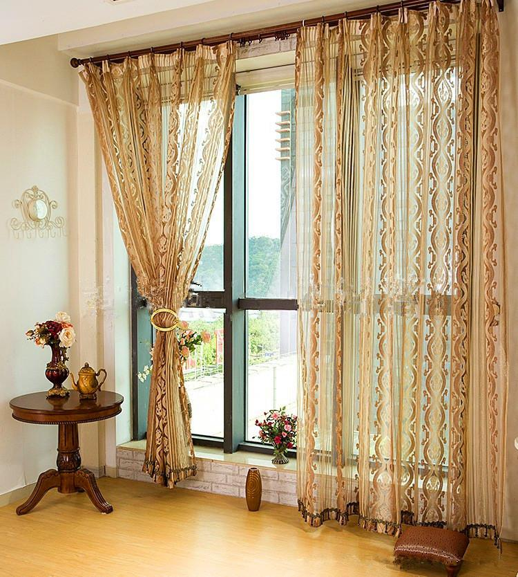 On Sale New Arrival Tulle Curtains For Home Coffee Purple Golden Red Grey Sheer  Curtains Wondow Treatment Decor Curtain Sheer Curtain Tulle Curtain Online  ...