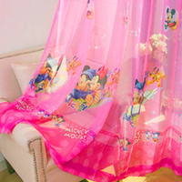 Wholesale Tulle curtains Tulle for windows quality sheer curtains for kids childen boys girls princess sheer curtains Blue Pink