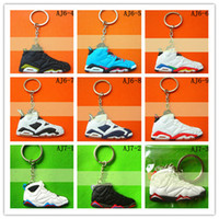 Wholesale man sneakers keychains Cheap Keychain ring Fan souvenirs shoes keychain
