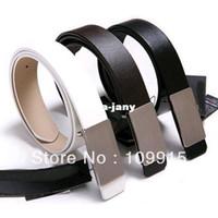 Wholesale New Waist Belt Strap Mens women s Adult White Black Brown Faux Leather Alloy Buckle JX0076