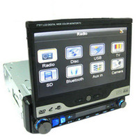 Wholesale Universal Inch LCD Touch Screen One DIN In Dash Motorized Car DVD Player Support TV FM Hands free Calls