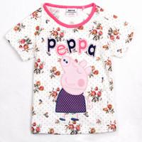 Girl Summer Standard Nova Kids peppa pig clothes girls pure cotton short sleeve t shirts cute 2014 new arrival summer children fashion shirt tees top A213
