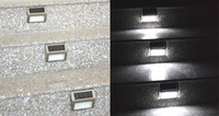 Wholesale Details about x New Design Outdoor Solar Power LED Bright Light Garden Pathway Stairs Lamp