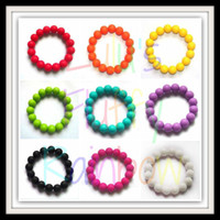 Beaded, Strands baby momma - MIX COLOR FDA Approved Teething Bracelet Silicone Baby Chew Bracelets Momma Jewels Baby Nursing Jewelry Silicone Teeth Bracelets