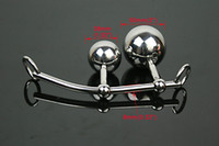 Butt Plugs Female Metal Female Anal Vagina Double Ball Plug In Steel Chastity Belts Rope Hook Bondage Sex Toy Locking Chastity Belt