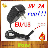 Wholesale 9V A DC2 x0 mm Power Charger AC Adapters For Flytouch Flytouch Superpad Cube U10GT Aoson M11 M19