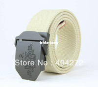 Wholesale Army Green Color Metal Buckle Belt For Men Fashion Sport Woven Belt Fabric Material Male Wasit Belt Colors