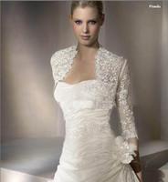 Wholesale Custom Made Long Sleeve Jackets Elbow Bridal Bolero Applique Wedding Jacket Bridal Wraps Jackets