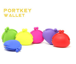 Wholesale Candy Storage bag Silicone Wallet Cosmetic Bag Key Case Coin bag Silicone Lovely Coin Purse Key Money Bag Jelly Bag Style Coin Wallet