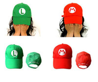 Wholesale Details about High quality super mario Luigi Hat Baseball cap