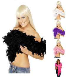Wholesale Fashion Hot Glam Flapper Dance Fancy Dress Costume Accessory Feather Boa Scarf Wrap Burlesque Can Can Saloon