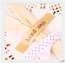 Free shipping Wholesale handmade kraft paper sealing stickers, Labels, kraft stickers hand made sealing stickers 1800pcs lot