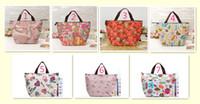 fashion fabric handbags - 2014 New Fashion Oxford Fabric Tote Bags Printing Mulltifunction Handbags Insulation Bags Picnic Bags Lunch Bags MM19