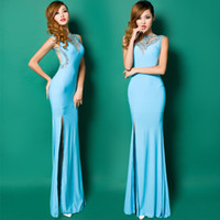Model Pictures Halter Silk 2014 Free shipping Fashion New arrival stretchy Jersey beaded Party Homecoming Prom Gowns Ball Formal Evening dresses H0620 MJ Vestidos