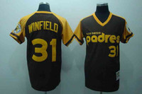 Baseball base coffee - San Diego quot Padres quot Dave Winfield Embroidered Coffee Throwback Baseball Jerseys Cooperstown Collection Cheap Cool Base Jerseys for Sale