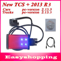 Wholesale 2014 Latest Red tcs cdp pro diagnostic tool plus with keygen in CD for Cars amp Trucks amp Generic with LED Light DHL