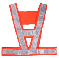 Wholesale Construction sanitation V shape reflective vest Lattice reflective vest mesh cloth reflective vest