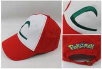 Wholesale Details about HOT Visor Cap POKEMON ASH KETCHUM COSTUME Cosplay Hat QZH01