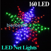 Wholesale 2014 Christmas Decorations Colorful LED Net String Lights For Christmas Wedding Party ornaments