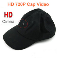 Wholesale Black Color Quality P HD Cap Camera DVR Video Recorder With Remote Control Covert Hidden Camera Hat Support Max GB