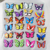 Wholesale Hi Quality cm Vivid D Duplex Printing Butterfly Fridge Refrigerator Magnet Stickers Home Decor Wedding Party Gift Toy