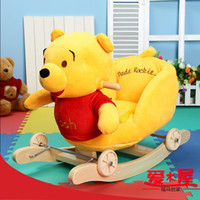 Wholesale Gift toy baby dual shook his horse rocking chair trojan rocking horse wood of music bag